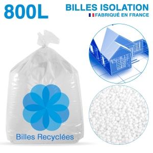 800 litres de billes de polystyrène recyclé pour isolation