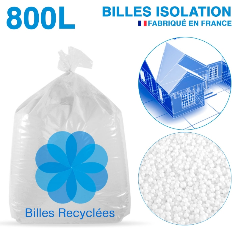 800 litres de billes de polystyr ne recycl pour isolation prix usine. Black Bedroom Furniture Sets. Home Design Ideas