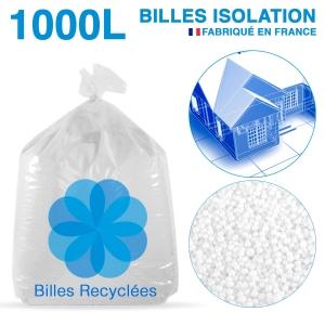 1000 litres de billes de polystyrène recyclé pour isolation