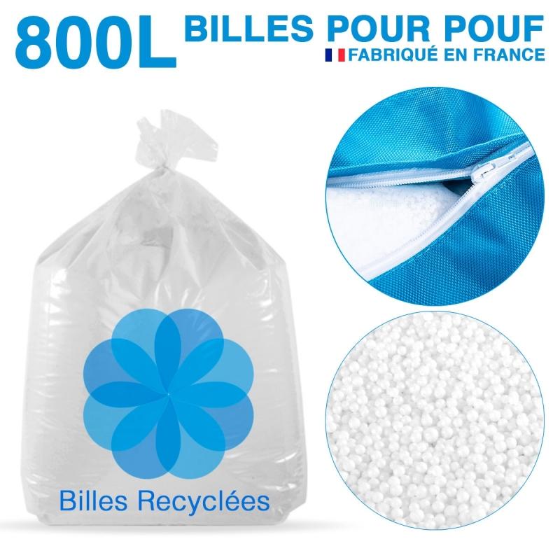 800 litres de billes de polystyrène recyclé pour pouf