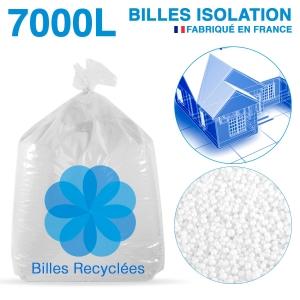 7000 litres, 7M3 de billes de polystyrène recyclé pour isolation