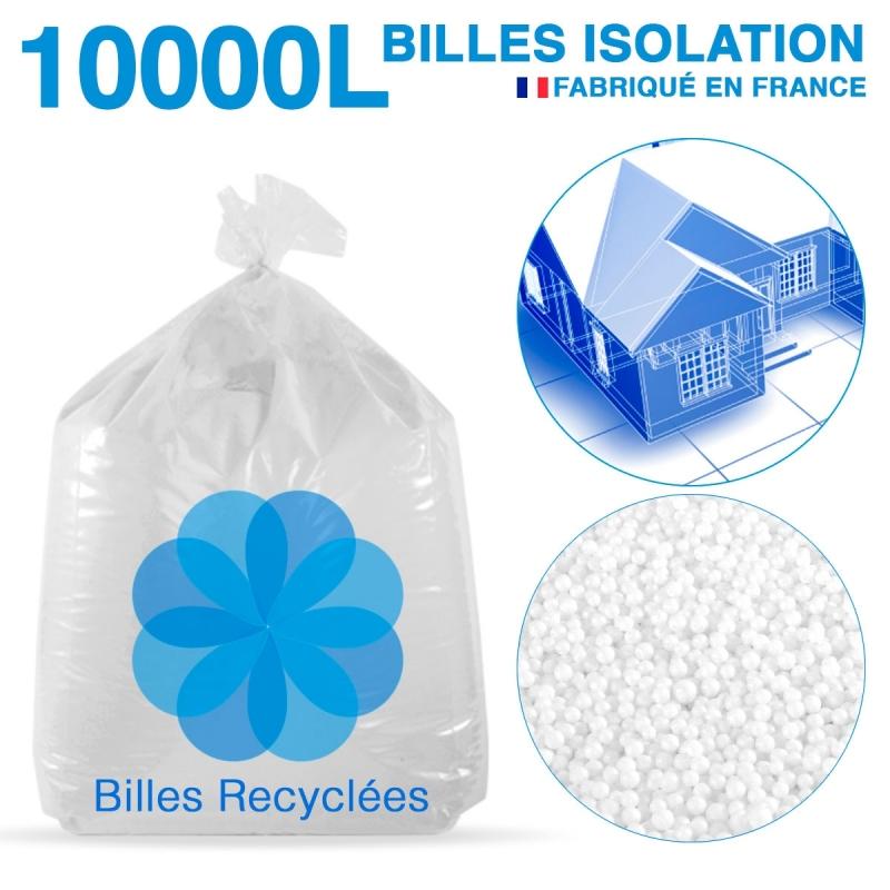 10 000 litres, 10M3 de billes de polystyrène recyclé pour isolation