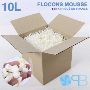Flocons de Mousse - 10 Litres - Rembourrage coussin, doudou, pouf.