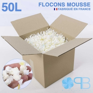 Flocons de Mousse - 50 Litres - Rembourrage coussin, doudou, pouf.