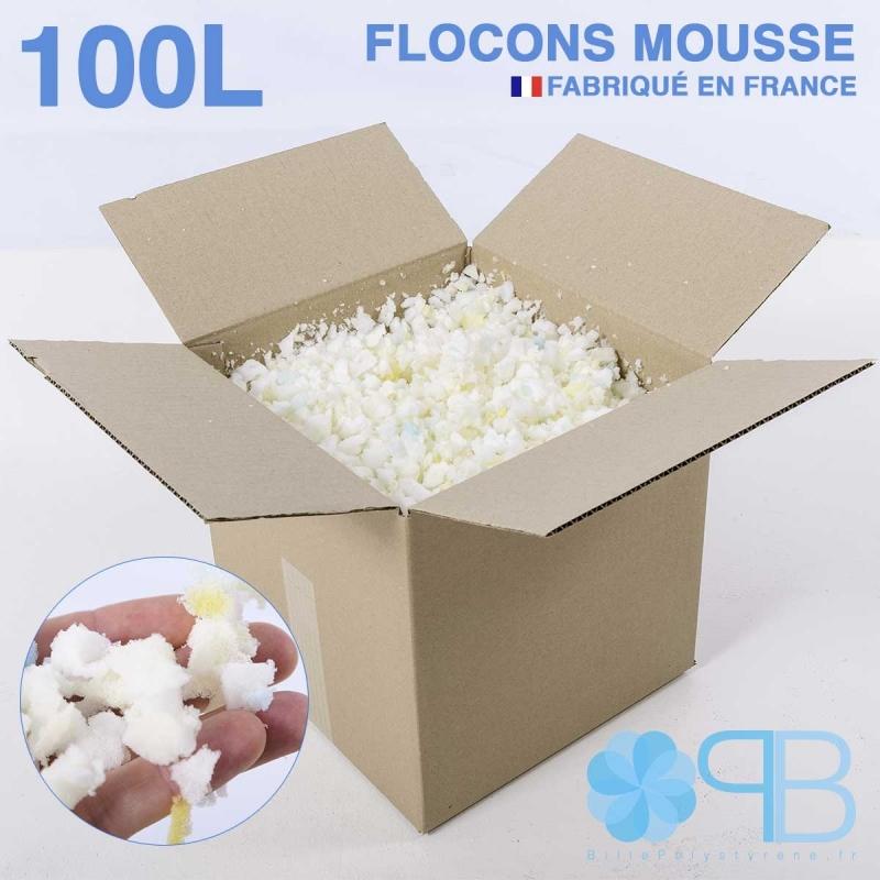 Flocons de Mousse - 100 Litres - Rembourrage coussin, doudou, pouf.