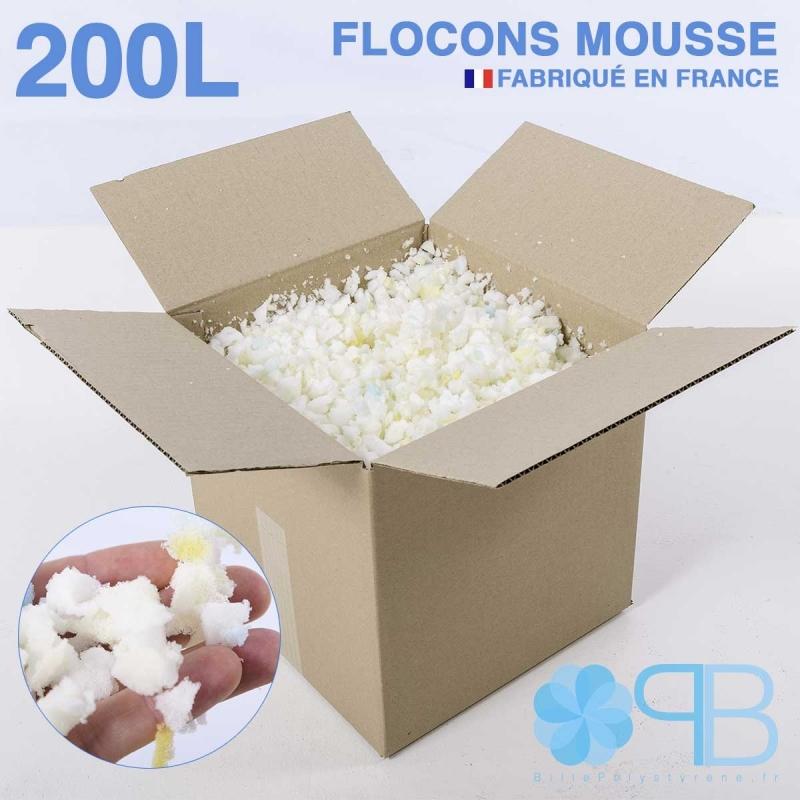 Flocons de Mousse - 200 Litres - Rembourrage coussin, doudou, pouf.