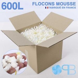 Flocons de Mousse - 600 Litres - Rembourrage coussin, doudou, pouf.