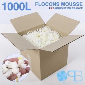 Flocons de Mousse - 1000 Litres - Rembourrage coussin, doudou, pouf.