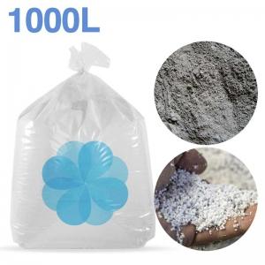 1000 litres de billes et poussières de polystyrène recyclé pour béton, ciment, chape allégée.