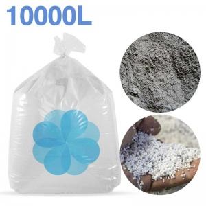 10000 litres de billes et poussières de polystyrène recyclé pour béton, ciment, chape allégée.