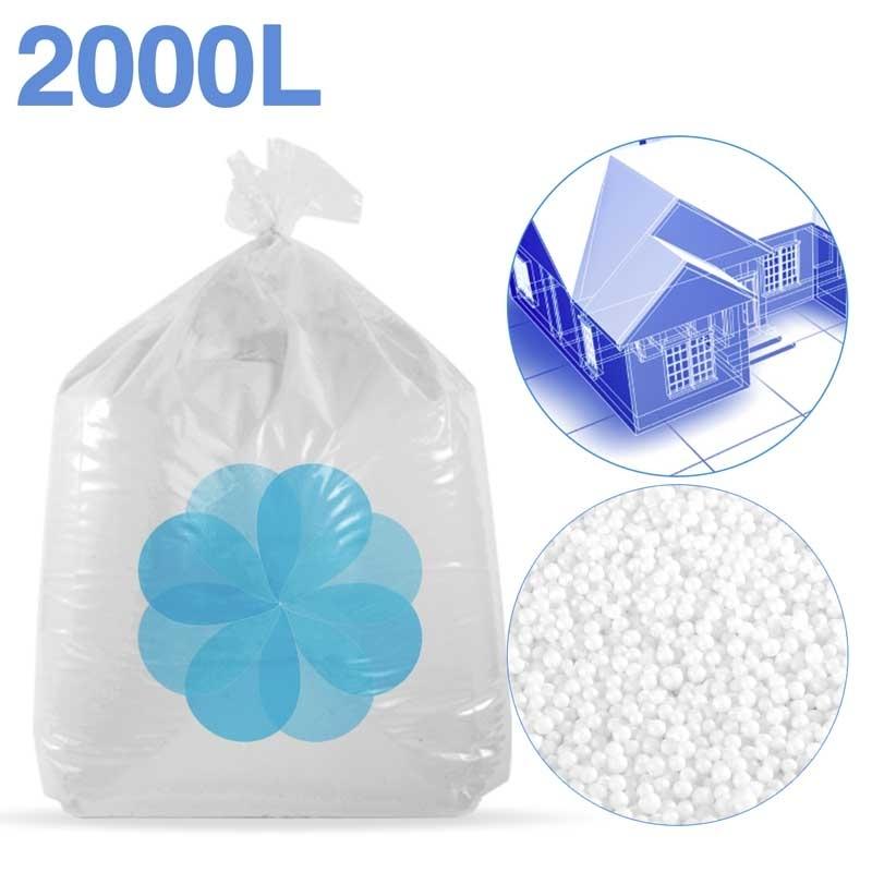 2000 litres de billes de polystyrène recyclé pour isolation