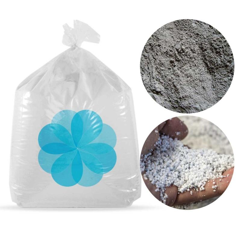 8000 litres de billes et poussières de polystyrène recyclé pour béton