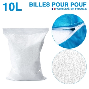 litres de billes de polystyrène recyclé pour pouf