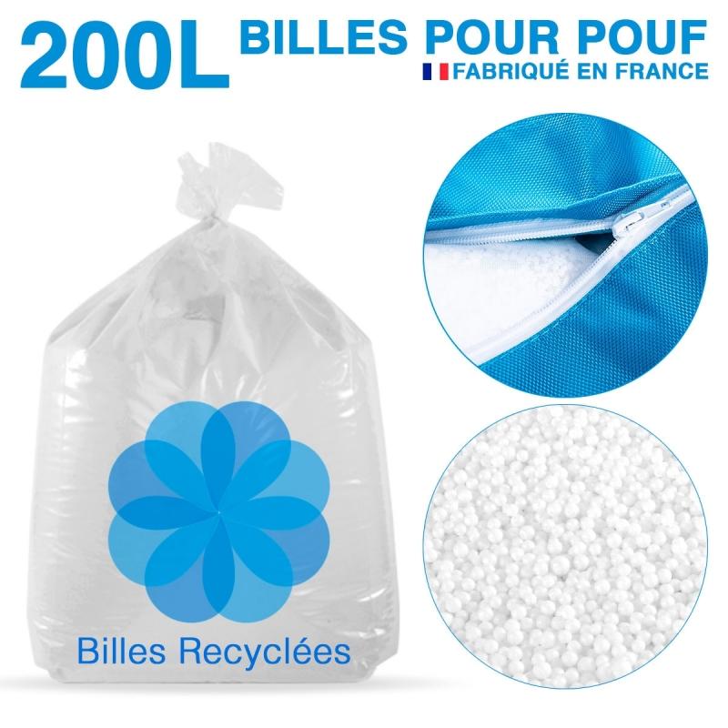 200 litres de billes de polystyrène recyclé pour pouf