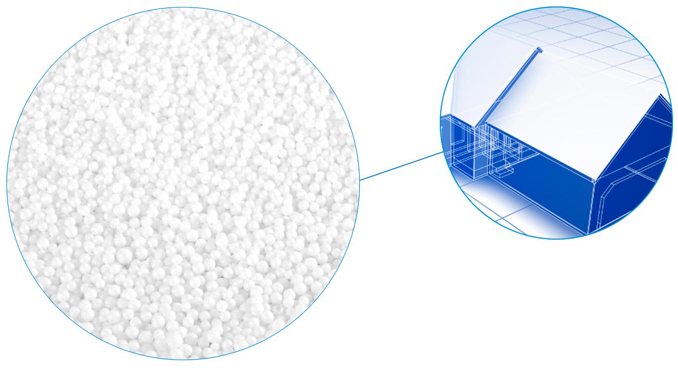 billes de polystyrène pour isolation